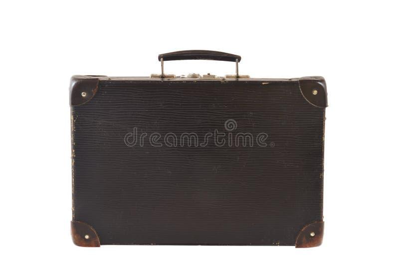 odosobniony stary retro projektujący walizki podróży biel fotografia royalty free