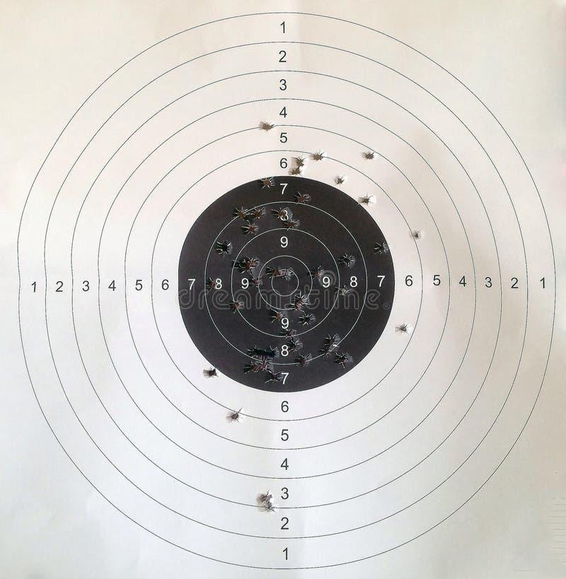 odosobniony strzelaniny celu biel obrazy stock