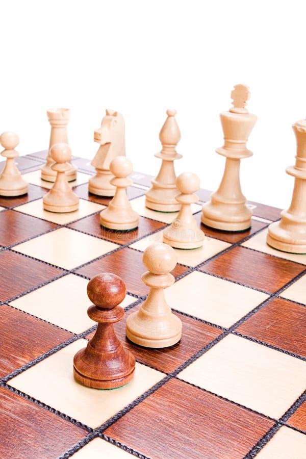 odosobniony szachy biel obraz stock