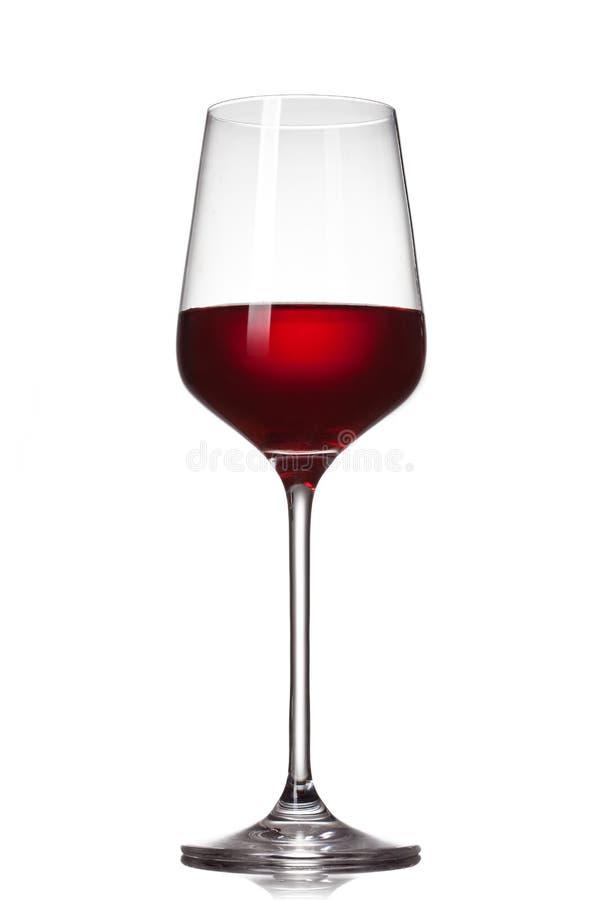 odosobniony szkła czerwone wino obrazy royalty free