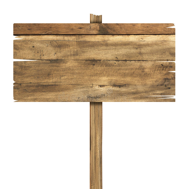 odosobniony szyldowy biały drewniany Drewniany stary deska znak zdjęcie stock