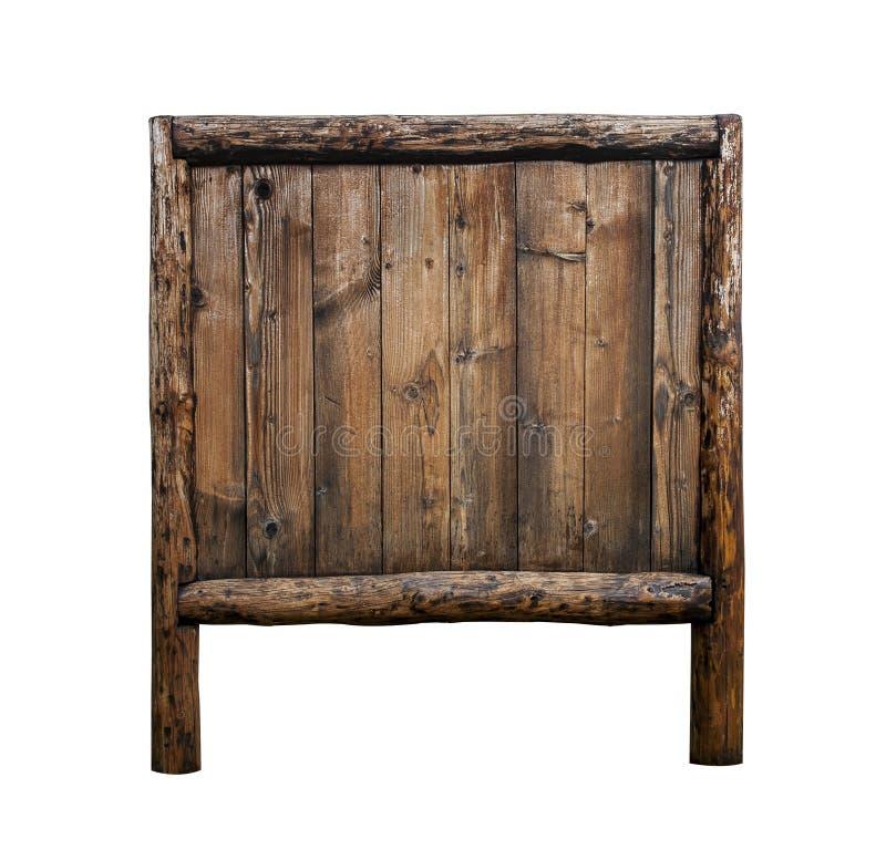 odosobniony szyldowy drewniany fotografia stock