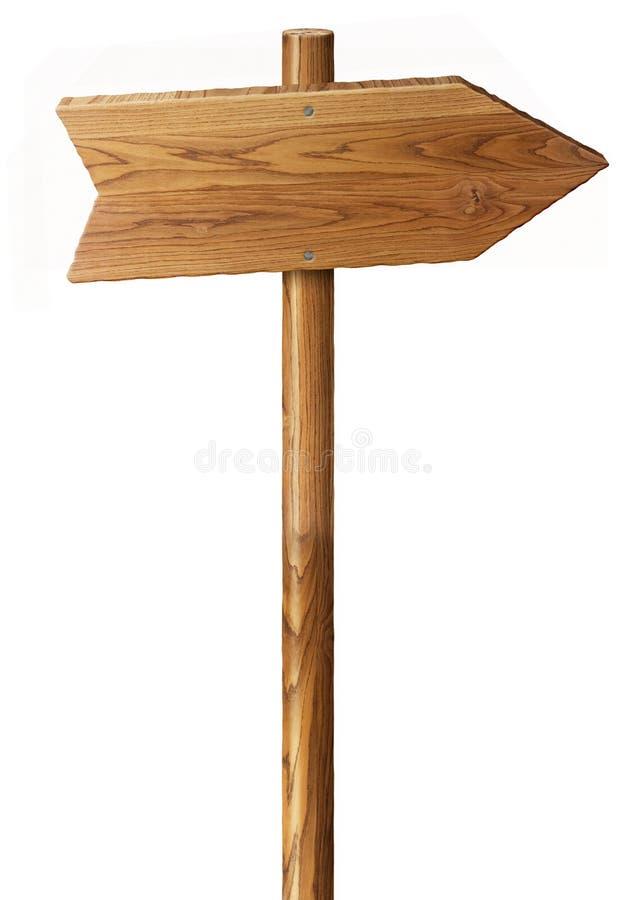 odosobniony szyldowy drewno ilustracja wektor