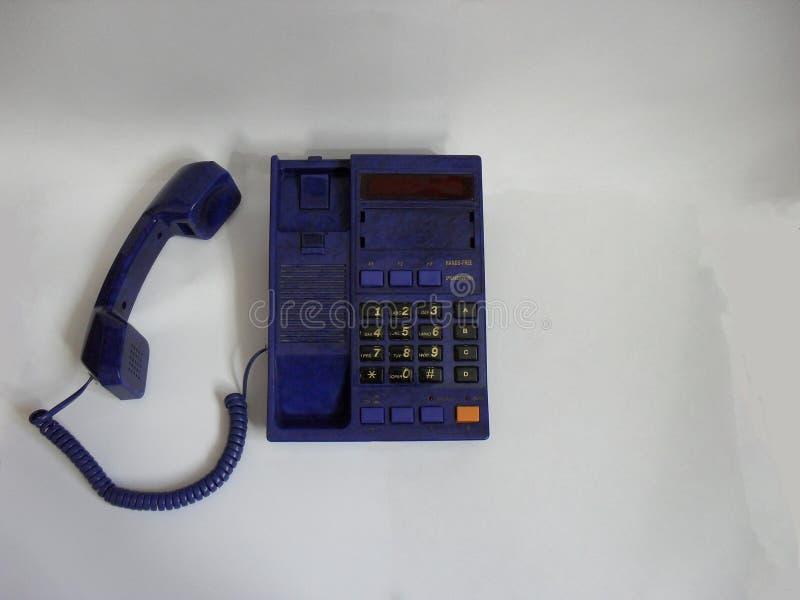 odosobniony telefoniczny biel fotografia stock