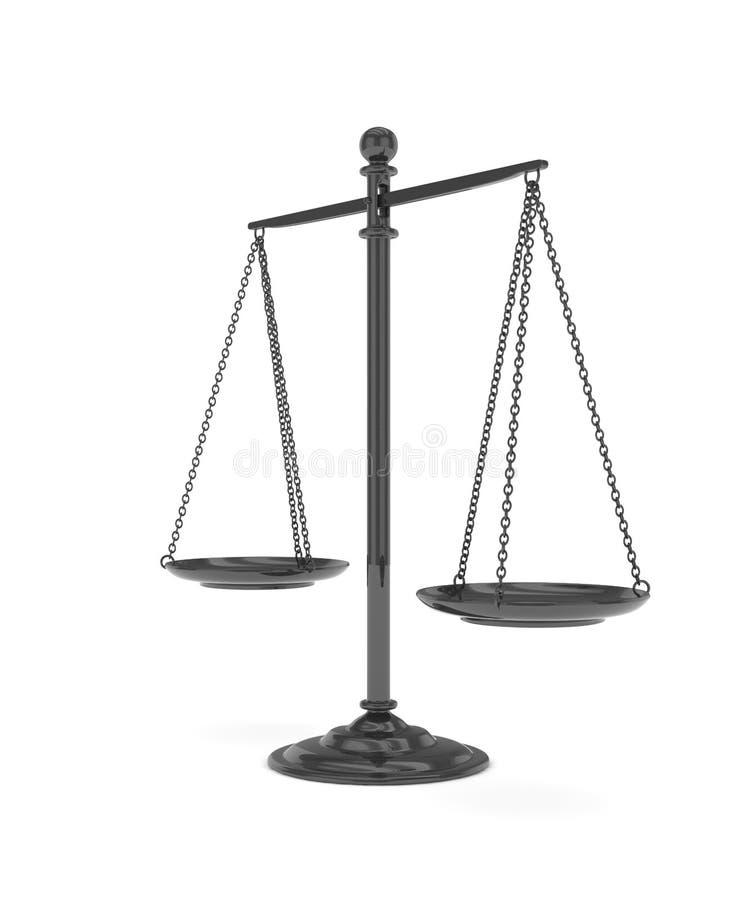 Odosobniony waży na bielu świadczenia 3 d royalty ilustracja