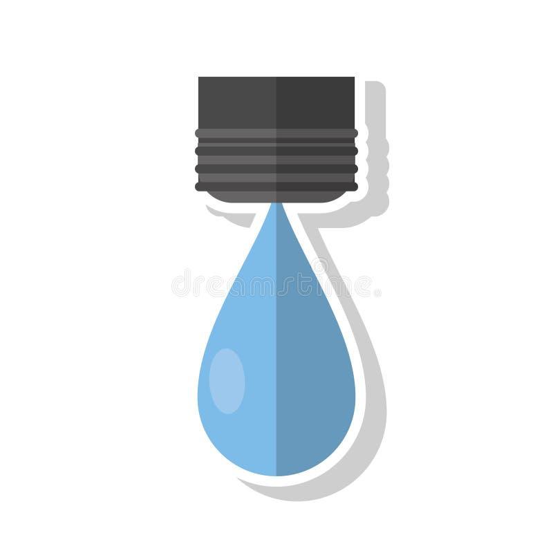 Odosobniony wody kropli projekt royalty ilustracja