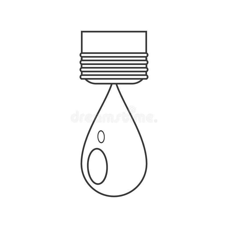 Odosobniony wody kropli projekt ilustracji