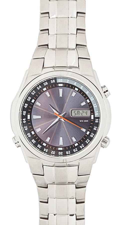 odosobniony wristwatch obrazy stock