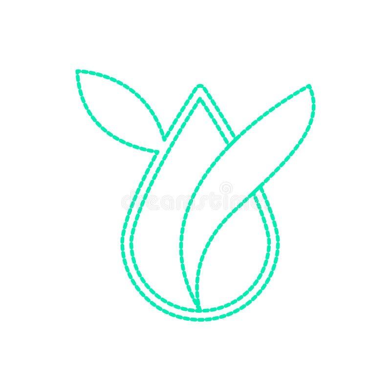 Odosobniony zdroju logo ilustracji