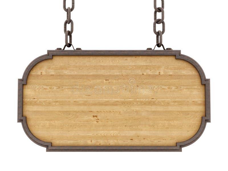 Odpłaca się drewniany znak zdjęcia stock