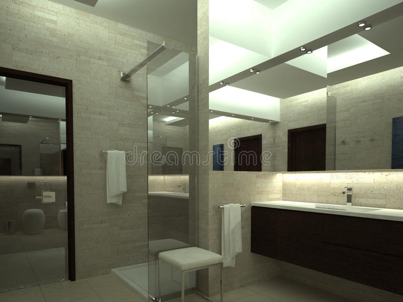 Odpłaca się luksusowa łazienka ilustracji