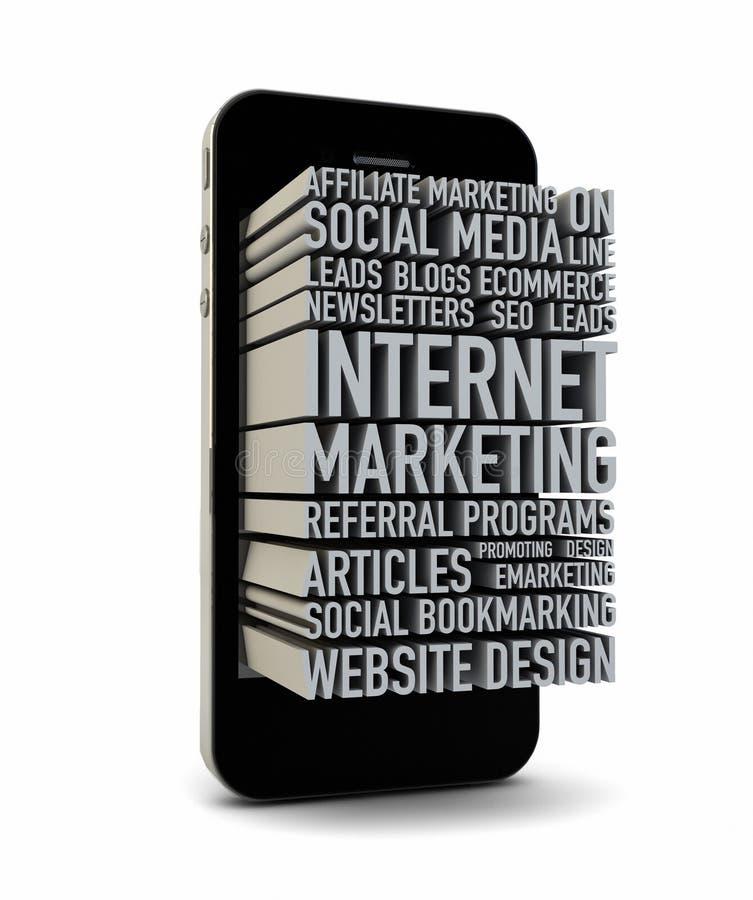 Internetowy marketing ilustracja wektor