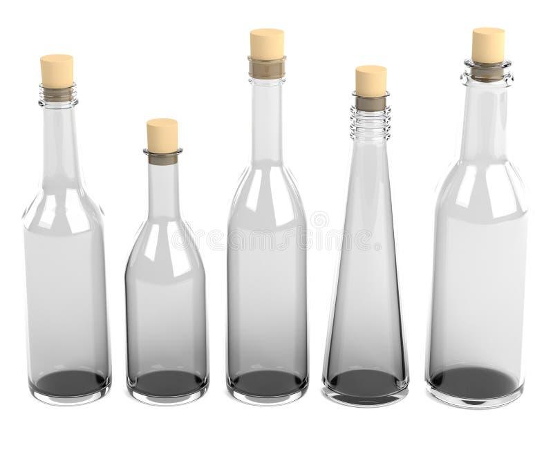 Odpłaca się szklane butelki ilustracji