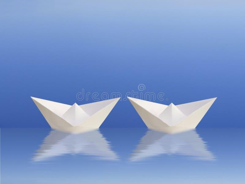 odpływa razem łodzi ilustracji
