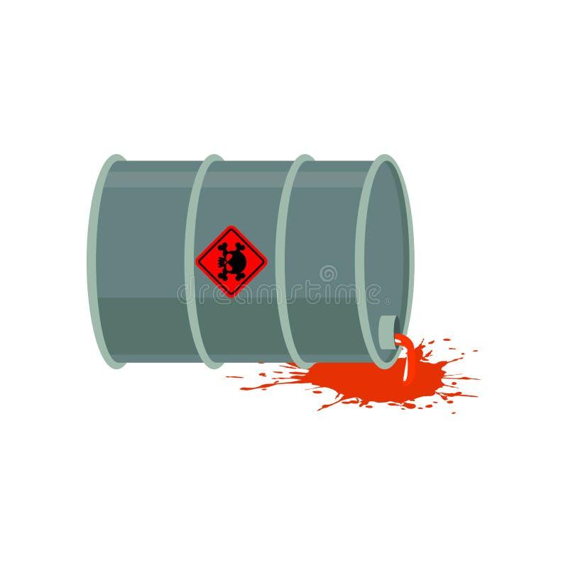 Odpad Toksyczny baryłka Promieniotwórcze przemysłu śmieci emisje chem royalty ilustracja