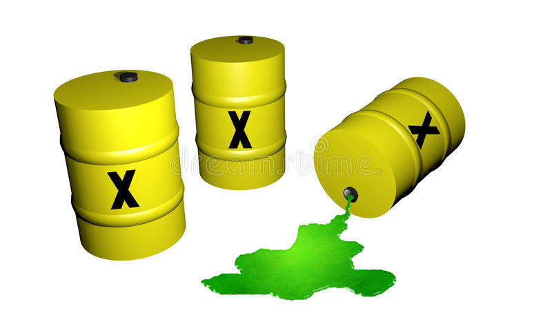 Download Odpady toksyczne ilustracji. Ilustracja złożonej z baryłki - 13343057