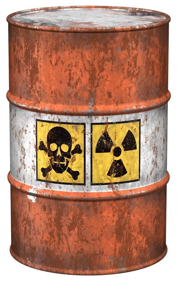 odpady toksyczne ilustracja wektor