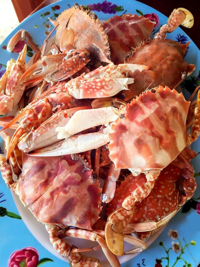 Odparowani kraby obrazy royalty free