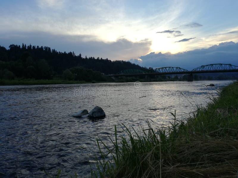 Odpoczynek na San rzece zdjęcia stock
