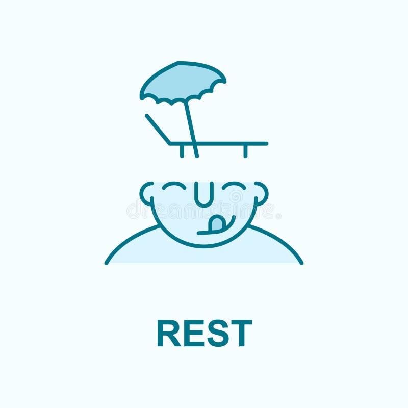 Odpoczynek na umysłu pola konturu ikonie royalty ilustracja