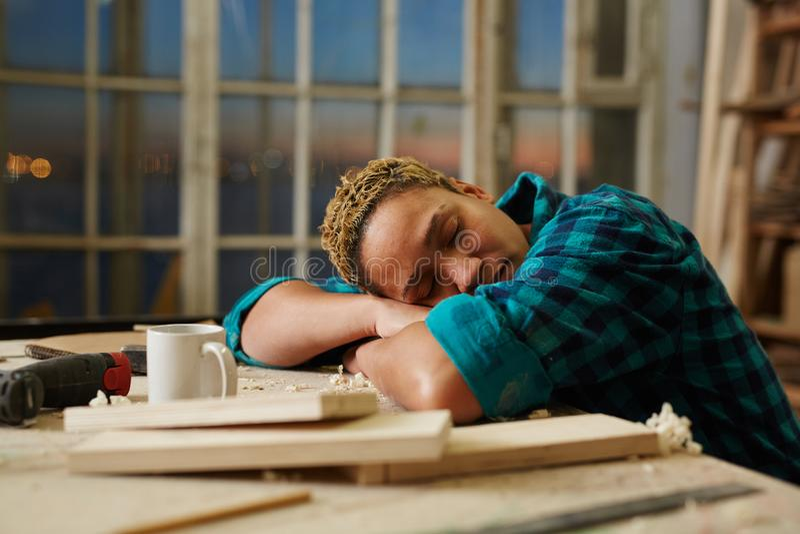 Odpoczynek po pracy obraz stock