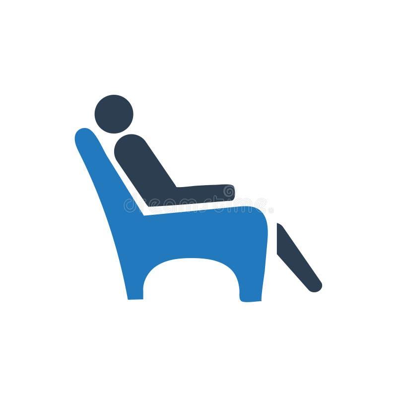 Odpoczynek, poczekalni ikona royalty ilustracja