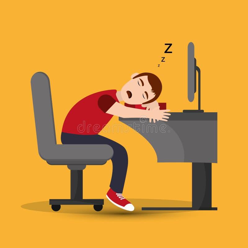 Odpoczywać i sen projekt ilustracja wektor