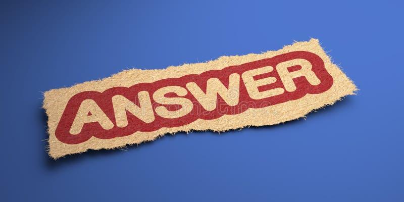Odpowiedź. Biznesowy pojęcie. ilustracja wektor