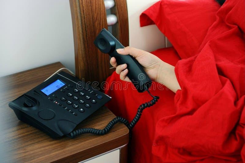 odpowiedź telefon obraz royalty free