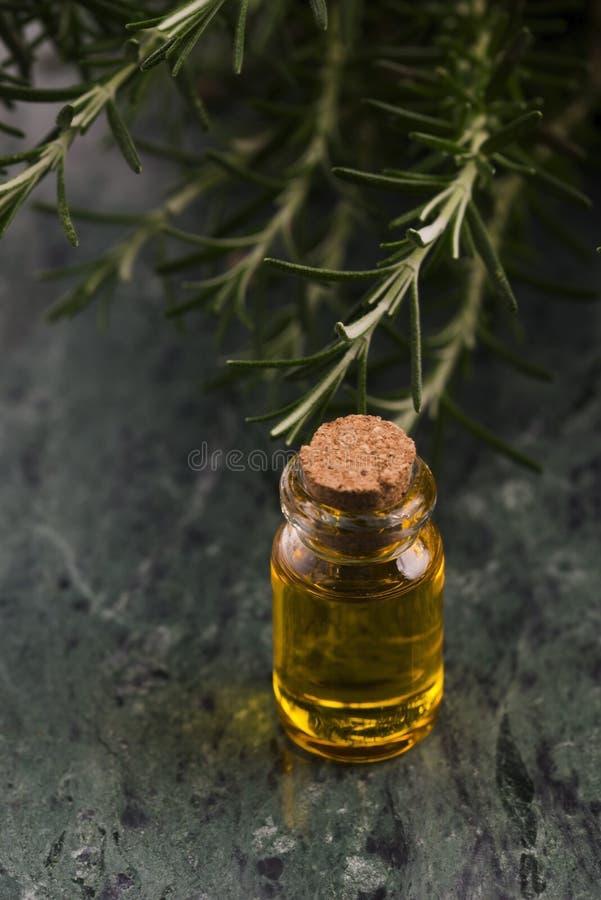 odpowiedni rosemary oleju zdjęcia stock