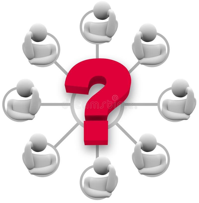 odpowiedzi brainstorming grupy pytanie ilustracja wektor