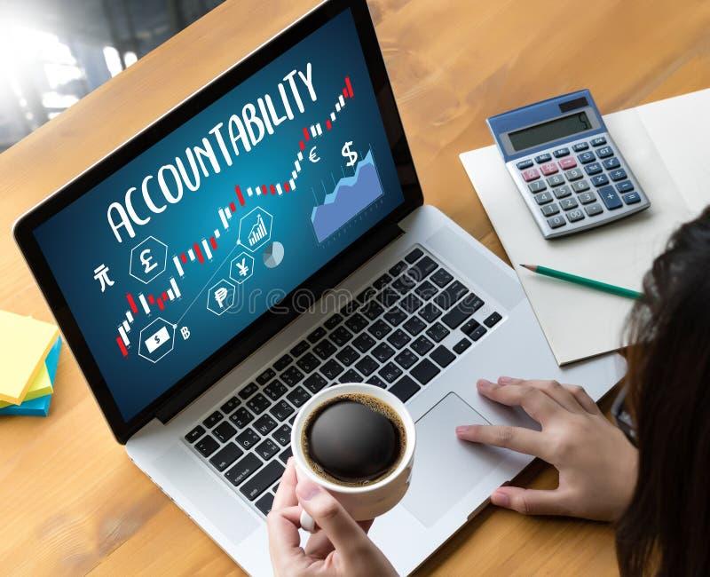 Odpowiedzialność Savings konta pieniądze Globalny finanse kalkuluje t ilustracja wektor