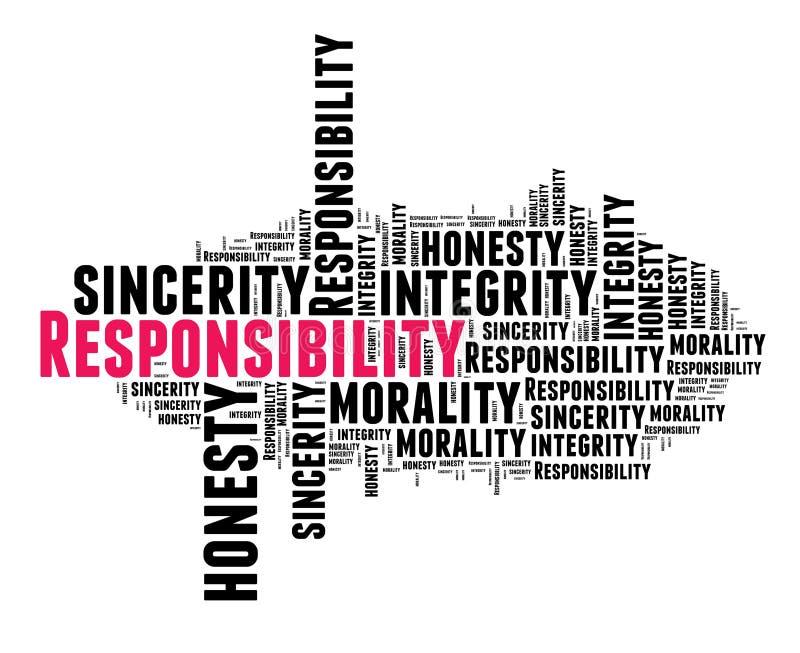 Odpowiedzialność w słowo chmurze ilustracji