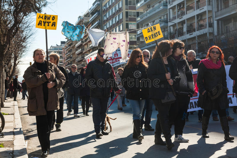 Odprawiający funkcjonariusza państwowego protest obraz stock