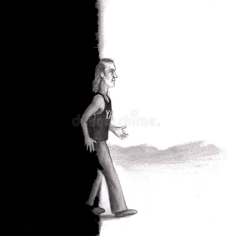 odprowadzenie ciemności światło ilustracja wektor
