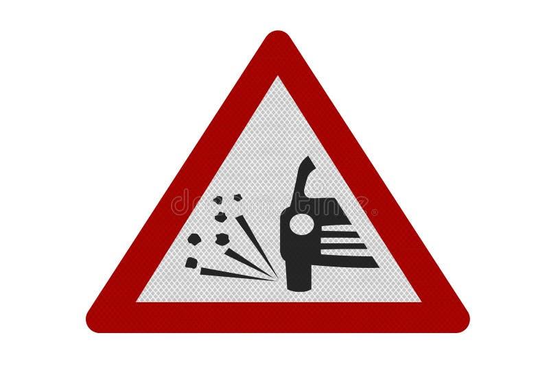 odpryskiwania loose fotografii ostrzeżenie realistycznego szyldowego ilustracja wektor