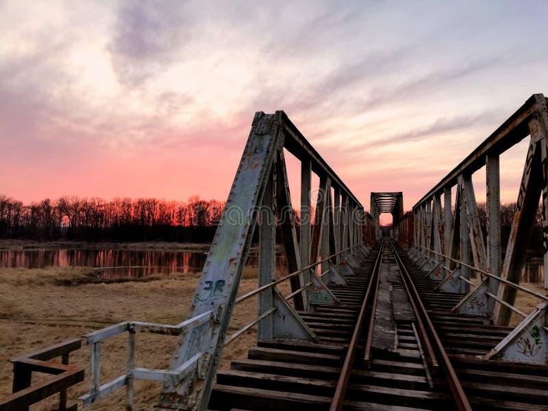 Odra del fiume della Polonia immagine stock
