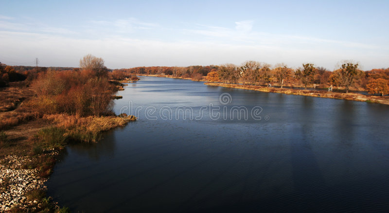 Odra river royalty free stock photo