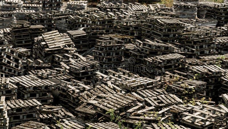 Odrzucający palowy drewniani barłogi zdjęcie royalty free