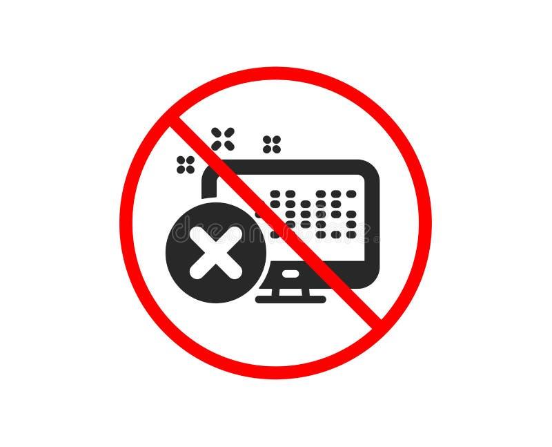 Odrzut sieci dostępu ikona Spadku monitoru znak wektor royalty ilustracja