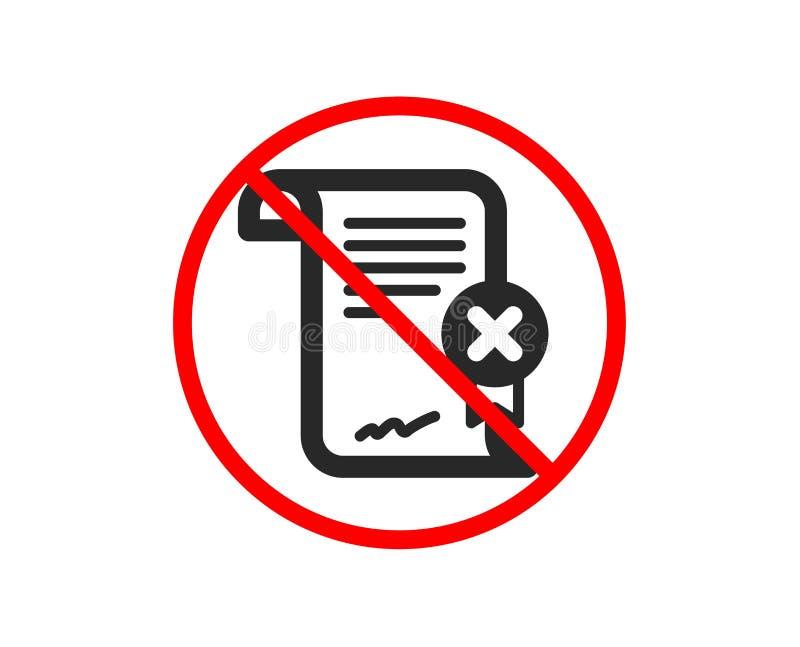 Odrzutu ?wiadectwa ikona Spadku dokumentu znak wektor ilustracji