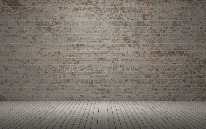 Odsłonięty ściana z cegieł ilustracja wektor
