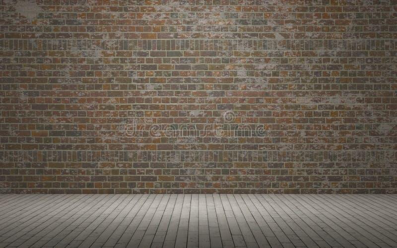 Odsłonięty ściana z cegieł royalty ilustracja