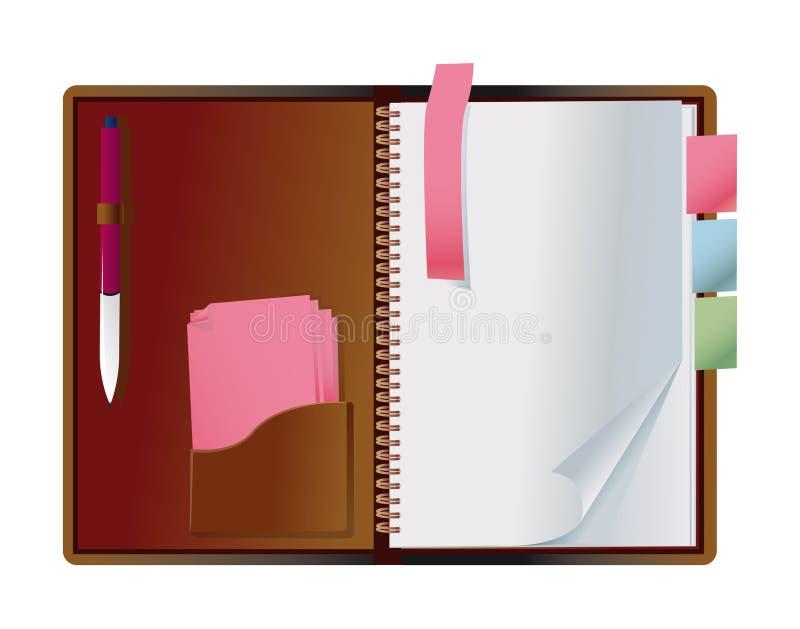 odsłonięty notatnik royalty ilustracja