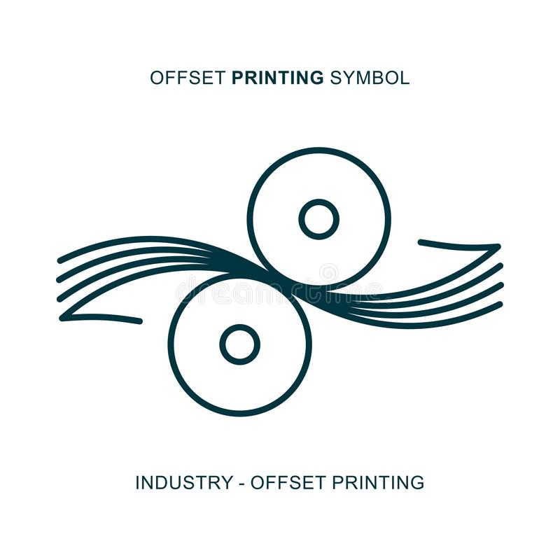 Odsadzka drukowy symbol fotografia royalty free
