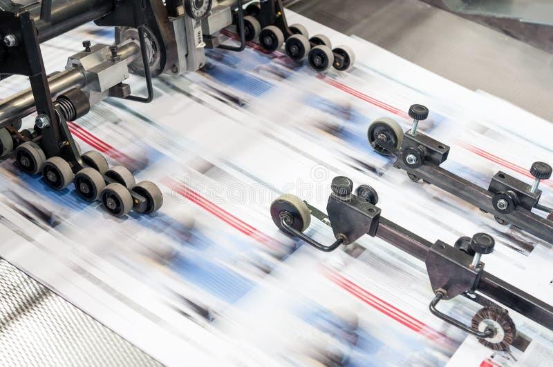 Odsadzki drukowa maszyna w pracie zdjęcie stock