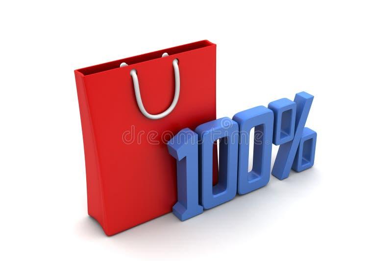 Download Odsetka Znak Z Torba Na Zakupy Ilustracji - Ilustracja złożonej z eventide, teraźniejszość: 53778069