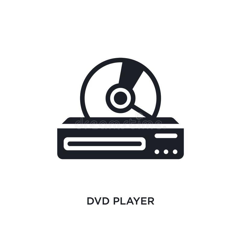 odtwarzac dvd odosobniona ikona prosta element ilustracja od urządzenia elektronicznego pojęcia ikon odtwarzac dvd logo znaka edi royalty ilustracja