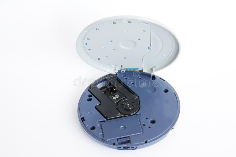 Odtwarzacz CD odizolowywający na bielu obraz stock
