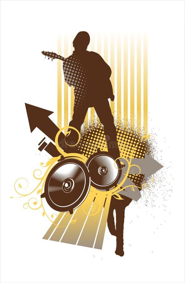 odtwarzacz muzyczny brown żółty ilustracji